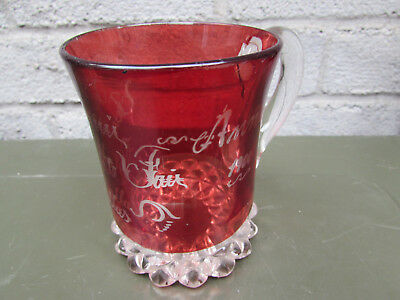 Texas State Fair Dallas Ruby Flash Vintage Souvenir Glass Mug Cup Anna 1900