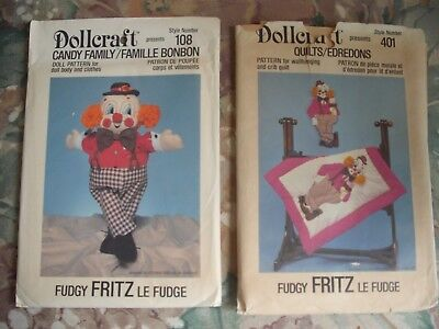 Fudgy Fritz Two Patterns Clown Doll & Matching Quilt Uncut