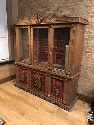 Antique Breakfront China Cabinet