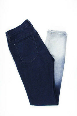 Henry & Belle Blue White Cotton Fade Low Rise Skinny Jeans Size 24