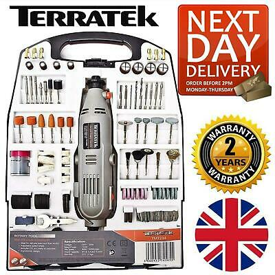 Terratek 234Pc Rotary Multi Tool Dremel Compatible Accessories Mini Drill Hobby