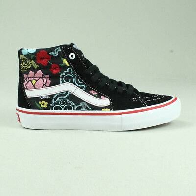 1f733de04fed Vans Sk8 Hi Pro Lizzie Armanto Trainers Shoes in Black Floral in UK Size 4