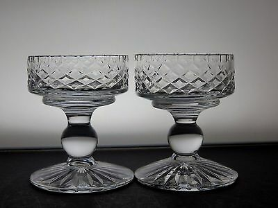 Lovely Cut Glass Crystal Candle Holders Set Of 2