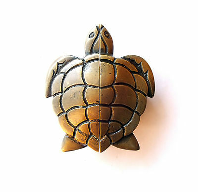 VINTAGE ANTIQUE Style Big TURTLE Cabinet Brass KNOB Drawer Round Pulls