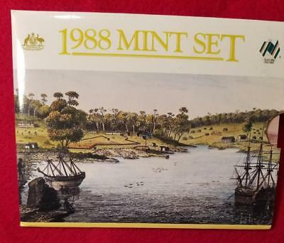 AUSTRALIA 1988 OFFICIAL ISSUE 8pc MINT SET KM#MS21 BRILLIANT UNCIRCULATED ~BX75
