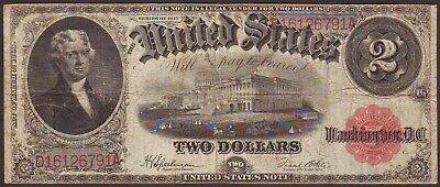 1917 $2 Dollar United States Legal Tender Large Size Note