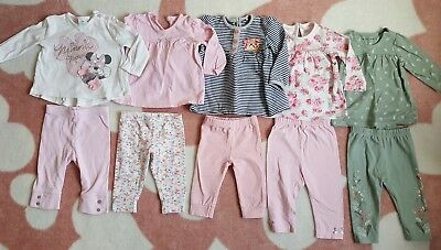 Baby girls Autumn / Winter Tops and Leggings bundle 3-6 months