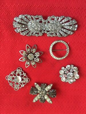 Estate lot of Vintage Gorgeous Rhinestone Pins/Brooches - LQQK!