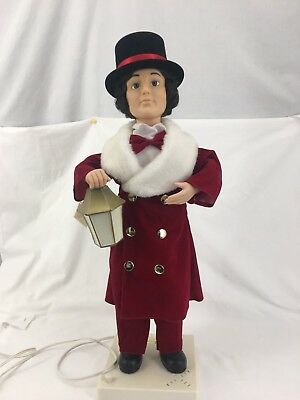 Vintage Telco Animated Motionette Christmas Man Lantern  27""