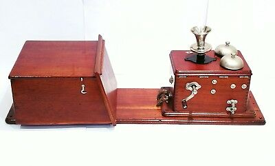 Early BWE Twin Box ~ c. 1890  ~ Historic Old Telephone ~ Special Transmitter