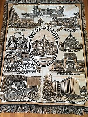 """Indiana Purdue University Tapestry Throw Blanket 51"""" x 69"""" Great Details"""