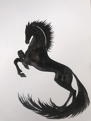Free Post. We Are Made From Ashes. Sienna Mayfair Original Art Horse Painting