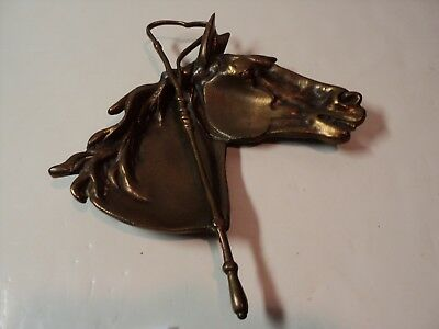 Vintage Bronze Horse Head Coin Tray, Trinket Dish. Very Cool