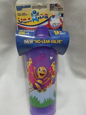 Purple Insulated Sip Cup Made In USA NEW
