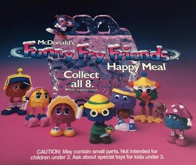 MIP McDonald's 1989 FUNNY FRY FRIENDS Guy Girl Kid MIX MATCH Pieces PICK UR FAVE