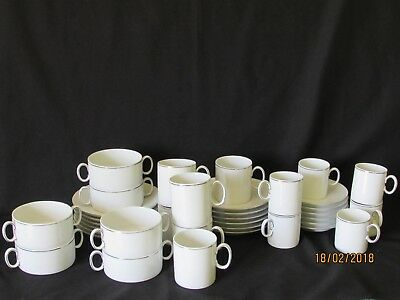Beautiful Vintage THOMAS White Porcelain 36pc Set