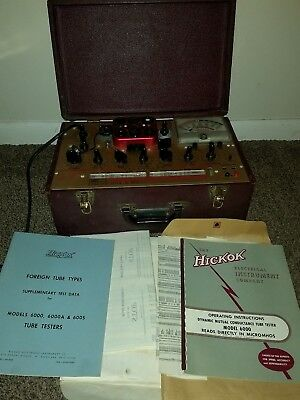 Hickok 6000 Mutual Conductance Tube Tester Voltages TESTED WORKS
