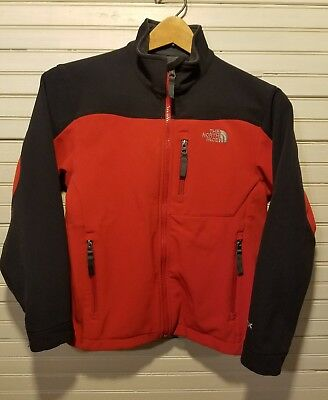 THE NORTH FACE Youth M Med Rust Soft Shell Apex Fleece Lined Jacket