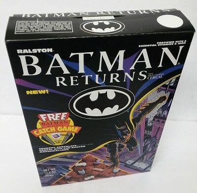 Vintage 1992 RALSTON BATMAN RETURNS empty  CEREAL BOX good old days