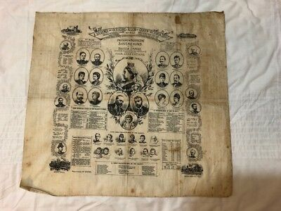 Souvenir Of The Record Reign Of Queen Victoria 1897 Printed Cloth