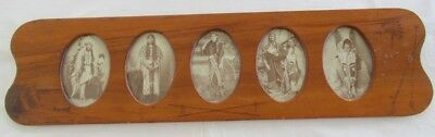 Collage Of Vintage Indian Real Photos.....In Vintage Illustrated Wood Frame