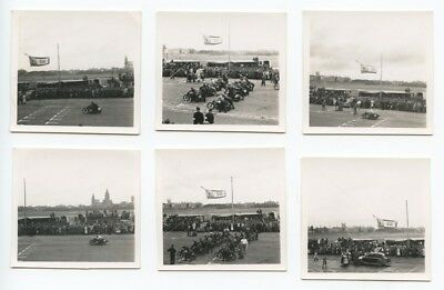 Lot Of 6 Photos.....Vintage Motorcycle Race