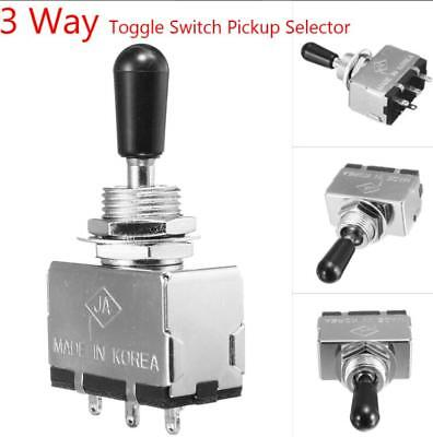 3 Way Toggle Switch Pickup Selector Black Tip Enclosed for Electric Guitar