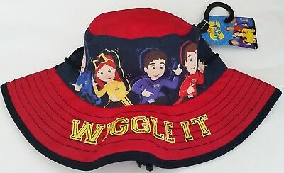 THE WIGGLES Boy Girl Licensed bucket brim hat with toggle NEW up to 53cm