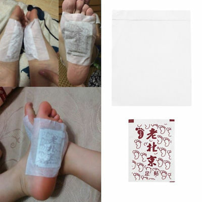 C8BB Old Bejing Natural Plant Herbal Foot Detox Feet Pad Cleansing Care Fit