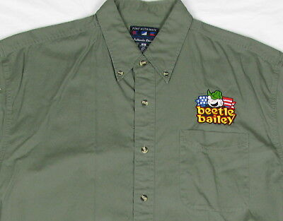 MENS XL  SHIRT STITCHED BEETLE BAILEY PATCH IGT SLOT MACHINE THEME Army Cartoon