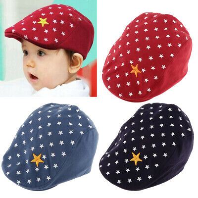 Baby Kid Infant Boys Girls Beret Beanie Peaked Baseball Hat Casquette Cotton Cap