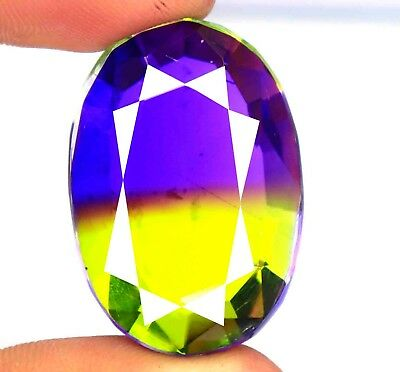 72.70 Ct Certified Wonderful Multi Color Ametrine Gemstone Free Shipping BZ2887