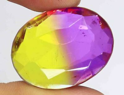 50.30 Ct EGL Certified Oval Cut Multi Color Ametrine Gemstone 4 Pendant BZ2883
