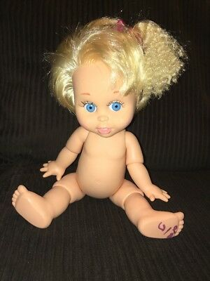 """Baby Face SO INNOCENT CYNTHIA Poseable 13"""" Doll Galoob 1990 LGTI Jointed #7"""