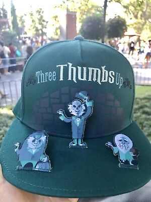 Disney Parks Haunted Mansion Hitchhiking Ghosts Three Thumbs Up Baseball Cap Hat