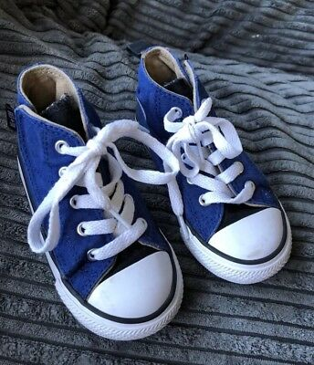 Converse Blue Trainers Size 7 High Tops