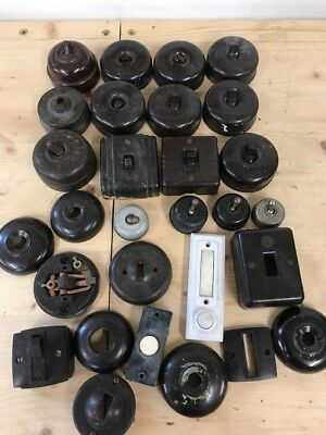 Bakelite Toggle Switch Vintage Light Switch Lot - Hp11