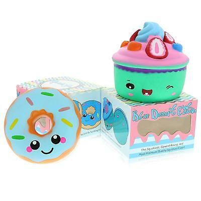 Slow Rising Jumbo Kawaii 2 Pack Squishies - Scented Mochi Squishy Toys