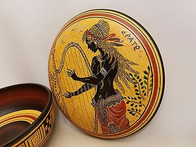 Erato Greek Muse of Lyric Poetry Rare Hellenic Ancient Art Pottery Jewelry Case