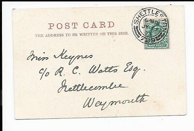 Scotland 1903 Ppc Used To Weymouth Cancelled Shettleston/729 Double Ring Cds