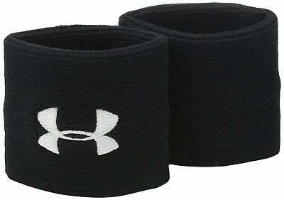 "Under Armour Men's 3"" Performance Wristbands Black (001)/White One Size"