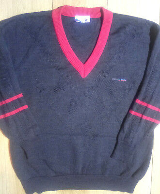 BMW M Style by Grosse West Germany Mens Sweater Jumper V-Neck Wool Acrylic