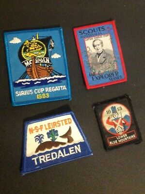 Four 1990s Boy Scout patches