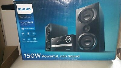 Philips Multipair Bluetooth Micro Music System. 150W. BTB3370/12. (New)