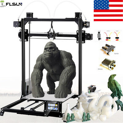 Flsun 3D Printer Touch Screen Dual Extruder Auto-leveling Large Size Printing