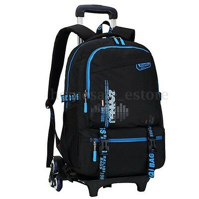 Classic Children with 6 Wheels Removable Backpack Trolley School Luggage Bag