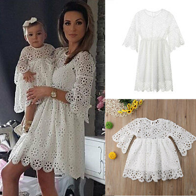 Mommy and Me Family Matching Dress Women Girl Mother Daughter Floral Sundress