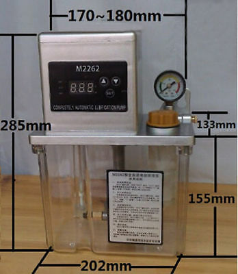 2L 220V 6mm Auto Lubrication Pump CNC Electronic Timer LCD Automatic Oiler 25W