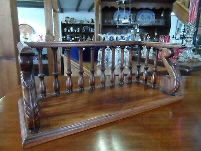 Super Carved and Turned Mahogany Book Shelf