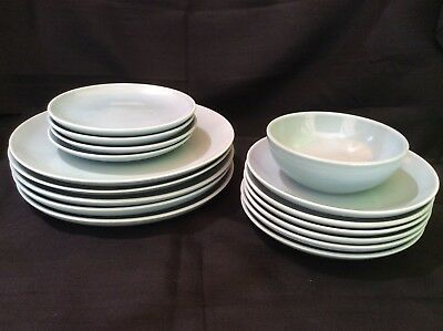 Vintage MCM Russel Wright Iroquois Casual China Set, 16 pieces, blue